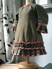 ORIGINAL ANTIQUE FRENCH DOLL DRESS ..