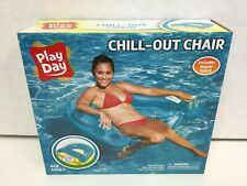 Play Day Chill-Out Chair Inflatable Pool Lounger With Cup Holders, 1 Teal
