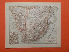 SÜDAFRIKA DSWA KAPKOLONIE Kapland Kolonie historische  LANDKARTE  1906