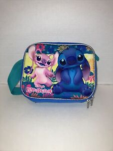 Disney Stitch & Angel Pink Insulated Lunch Bag With Surprise Accessories!