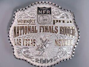 2004 Wrangler NFR Montana Silver Smith S/P G/P PRCA Belt Buckle