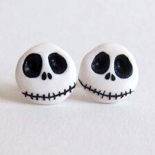 TESCHIO Halloween Nightmare Before Christmas Jack lo scheletro Orecchini Jewelry