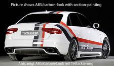 Rieger Heckeinsatz in schwarz glänzend für Audi A4 B8 ab Facelift S-Line/ S4