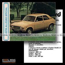 ★ AUSTIN ALLEGRO 1500 SPECIAL ★ Fiche Auto / Autocard #43