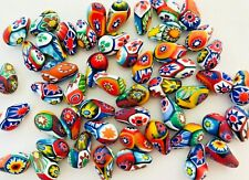 10 millefiori beads 14 mm by Ercole Moretti - vintage - art deco - murano glass