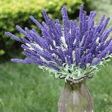 1 Bunch Dark purple Artificial Lavender Flower 12 Heads Plant Home DIY Decor