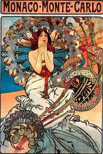 Repro Art NouveauPrint  ' Monaco Monte Carlo' by  Mucha