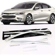 Autoclover Chrome Window Rain Sun Door Visor 6P For Chevrolet Malibu 2016 2017