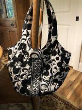 Vera Bradley Large Black and White Shoulder Bag