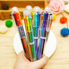 4Pcs 6 in 1 Multicolor Rainbow Ballpoint Ball Point Pen Students Office