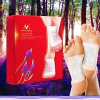 20pcs Lavender Cleansing Detox Foot Patches Pads Nourishing Repair Foot Patch