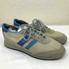 Vintage 70S Trax Gray Blue Striped Tennis Athletic Shoes Sneakers Size 7.5 Usa