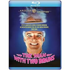 The Man with Two Brains 1983 (Blu-ray) Steve Martin, Kathleen Turner - New!