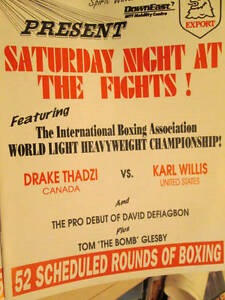 Canadian Saturday Night At The Fights 1996 Program-Thadzi vs Willis/Mike Tyson/B