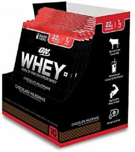 Optimum Nutrition 100% Whey Protein Powder Trial Box Pack of 10 Sachet Chocolate