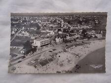 Ancienne carte postale vue du ciel de Quiberon plage du Porigo Port Haliguen