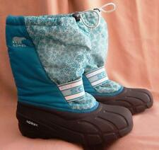 -> SOREL Turquoise Blue Snow Rain Boots + Removable Warm Liner Clean EUC - W7 <-