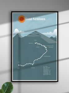 Mont Ventoux Tour de France Print - cycling biking racing Poster