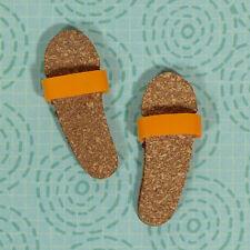 Vintage Barbie Ken In Hawaii 1404 Orange Strap Cork Sandals Shoes 1964 EXCLNT