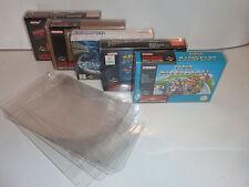 2 x snes super nintendo game box protectors .4 thick n64
