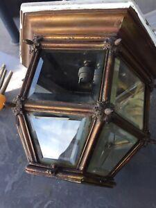 Victorian Glazed Boat Cabin Light