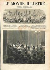 Procès du Maréchal Bazaine Lecture Sentence Tribunal Grand Trianon GRAVURE 1873