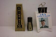 JR EWING (DALLAS) OIL #23 BOTTLE WITH BOX & JR 10 STEPS TO SUCCESS--MINT