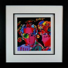 Peter Max, Zero Man in Love (Framed Original Painting)