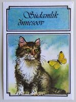 Estonia Heartfelt congratulations Cat & Butterfly Postcard (P284)