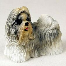 Shih Tzu Dog Hand Painted Figurine Resin Statue Collectible Mixed Color Puppy