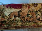 """Vintage Italian Family Of Lions 1940's - 1950's - 69"""" X 46"""" Tapestry"""