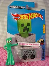 2016 i Hot Wheels Minecraft MINECART #70✰gray✰HW Ride-ons✰Case N