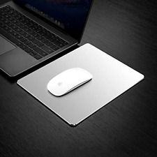 Hard Silver Metal Aluminum Mouse Pad Mat Smooth Magic Ultra Thin Macbook Pro Air