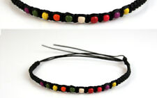 Anklet Black Rainbow Purple Yellow Red Ankle Bracelet Gypsy Boho Mens Womens