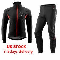 UK RockBros Cycling Fleece Thermal Set Winter Outdoor Windproof Jacket &Pant