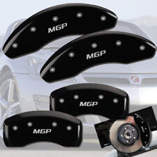 "2003-2006 Saturn Ion Front + Rear Black ""MGP"" Brake Disc Caliper Covers 4p Set"