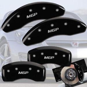 "2003-2006 Saturn Ion Front + Rear Black ""MGP"" Brake Disc Caliper Covers 4p Set"