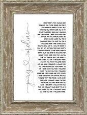 Song Lyrics First Dance Wedding 1st Anniversary Personalised Word Art Gift Print