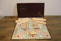 Vintage 1953 SCRABBLE Board Game SELCHOW & RIGHTER Complete Set 100 Tiles