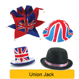 Great Britain UNION JACK Royal Wedding - Party Hats Ties Headboppers Decorations