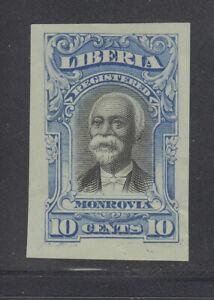 Liberia # F13 IMPERF COLOR TRIAL in BLUE On Blue Paper 1903 Registration Set