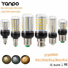 E27 E14 B22 5730 SMD LED Corn Bulb 9W 12W 15W 20W 25W 30W 35W Light White Lamp