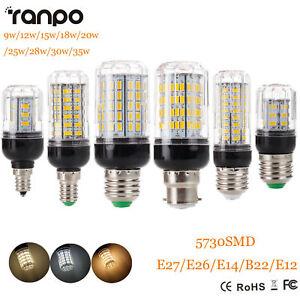 E27 E14 B22 5730 SMD LED Maïs Ampoule 9W 12W 15W 20W 25W 30W 35W Clair Blanc