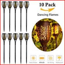 Solar Torch Lights Dancing Flickering Fire Flame Garden Landscape Lamp-10PACK