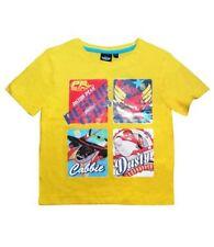 Camisetas de niño de 2 a 16 años manga corta color principal amarillo 100% algodón