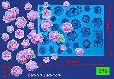 Silikonform silicone (256) Blumen 26 Stück 3D mould mold cake fondant sugarcraft