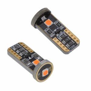 LED TAIL BRIGHT TURN SIGNAL BULB 2X T10 12V W5W 3030 AMBER INDICATOR