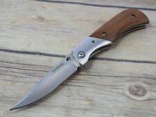BROWNING WOOD HANDLE LINER-LOCK FOLDING POCKET KNIFE WITH POCKET CLIP