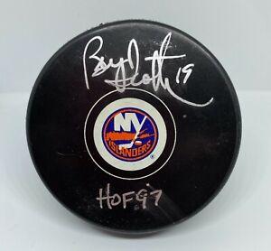 New York Islanders Brian Trottier Signed HOF '97 Puck Fanatics Hologram