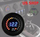 12V LED Car Van Boat Marine Voltmeter Voltage Meter Waterproof Battery Gauge